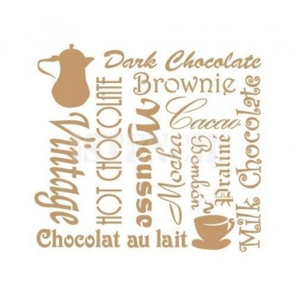 Stencil Deco Chocolate 093