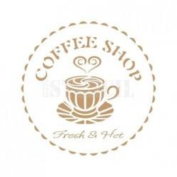 Stencil Deco Cofee Shop 177