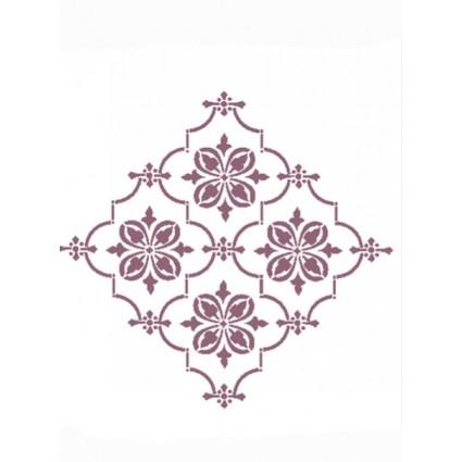 Stencil A3 damasco rombo