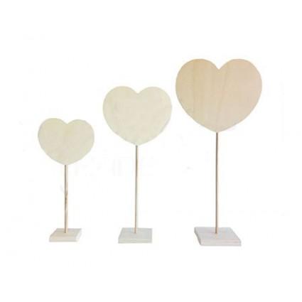 trio peana corazon tres medidas