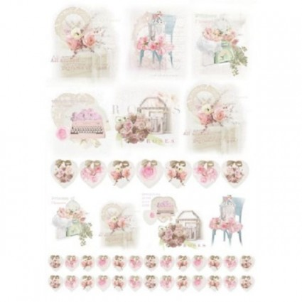 Papel de arroz 50 x 35 SHABBY ROSE