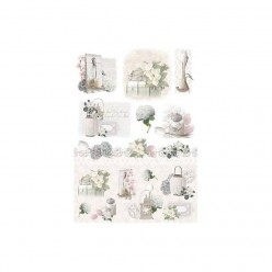 Papel de arroz 50 x 35 white flowers