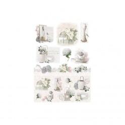 Papel de arroz 50 x 35 white flowers