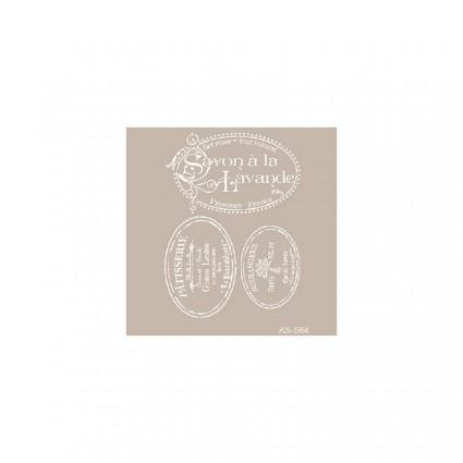 Stencil Cadence 21 x 30 lavande