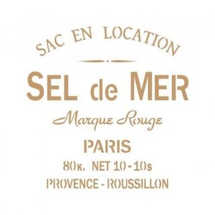 Stencil Deco vintage 069 sel de mer