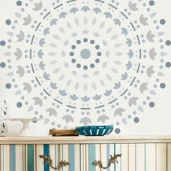 Stencil Home Decor Roseton 004 30 x 30