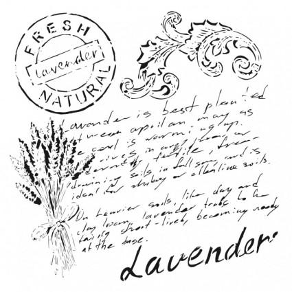 Stencil Cadence 45 x 45 Lavender