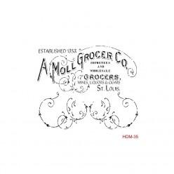 Stencil cadence 25 x 25 A Moll Grocer