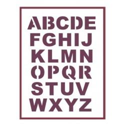 Stencil A3 Abecedario Mayusculas