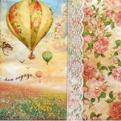 Servilleta Decoupage Balloon Flight