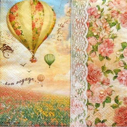 Servilleta Decoupage Balloon Flight