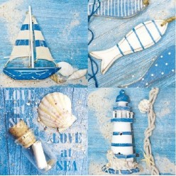 Servilleta Decoupage Love at Sea