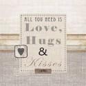 Servilleta Decoupage LOVE HUGS & KISSES
