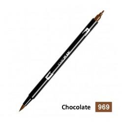 rotulador tombow dual brush-969 chocolate