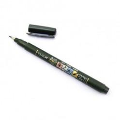 rotulador fudenosuke punta blanda negro