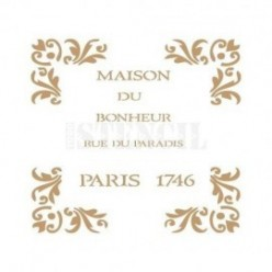 Stencil Vintage Maison 011 30 x 30
