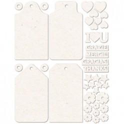 set siluetas de cartón Etiquetas 15x20