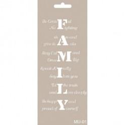 stencil mix media Cadence 21 x 9 FAMILY