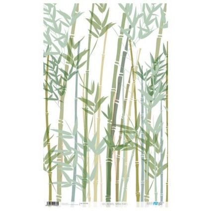 Papel de Arroz 54x33 Bamboo Plants