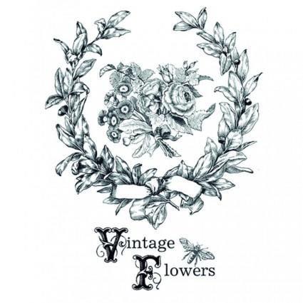 TRANSFER VINTAGE FLOWERS