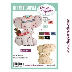 KIT DIY DAYKA ELEFANTE INDIO 14 X 12