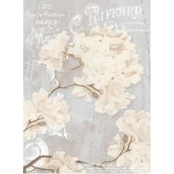 Papel Arroz soft 30 x 41 Riffard Flor de Almendro
