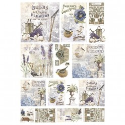 Papel Arroz dec 312 GARDENING 50X35