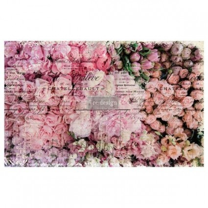 DECOUPAGE PAPER FLOWER MARKET 48.26X50.8
