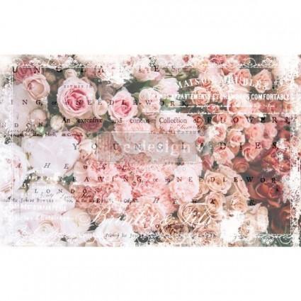 DECOUPAGE PAPER ANGELIC ROSE GARDEN 48.26X50.8