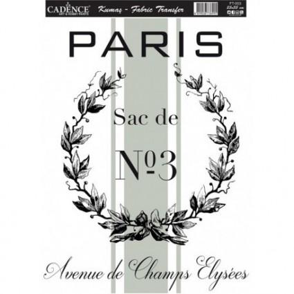 TRANSFER TEJIDOS PARIS Nº3  A4